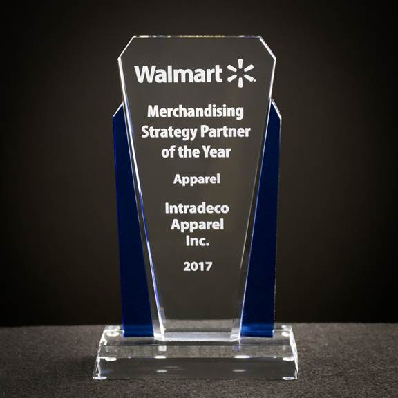Intradeco Received Walmart's Merchandising Strategic Partner Award